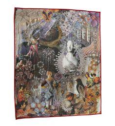 Manta de algodón impresa que expone la bella historia La Reina de las Nieves de Hans Christian Andersen #reinadelasnieves #hcandersen #manta #estampado #arte #cuento #hechoamano #tienda #compra #ventamantas #diseñohogar #impresión #decoración #diseñointerior #lujo #historia #paracama