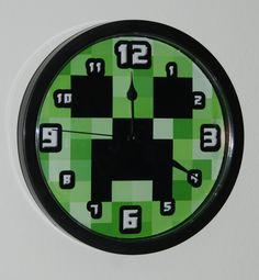 Handmade Wall Clock for Minecraft Gamer Enthusiast by AviLaLa, $24.99