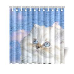 "Cat and Water Shower Curtain 69""x70"". FREE Shipping. FREE Returns."