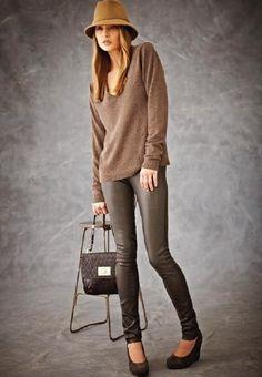 leather leggings..