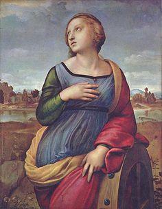 Santa Caterina d'Alessandria  Raffaello Sanzio - 1508 circa  Tecnica: Olio su tavola
