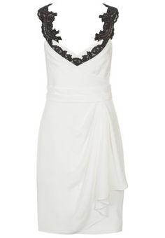 Marchesa Notte Cocktail dress / Party dress - white - Zalando.co.uk