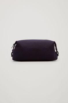 COS Cotton canvas wash bag in Dark Navy