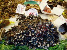Percebes in the Boqueria Market