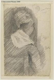Female from back (black woman) - Georges Pierre Seurat
