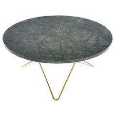 O sofabord, grønn marmor/messing i gruppen Møbler / Bord / Sofabord hos ROOM21.no (130018)