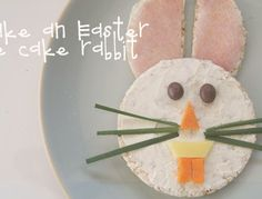 Healthy snacks for kids: Easter rice cake rabbits