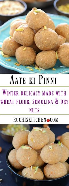 Deliciously yummy Aate ki pinni is a traditional Punjabi sweet made with whole wheat flour, semolina and dry nuts. This is undoubtedly the most popular must-have winter delicacy!!