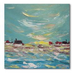 Windy bay   art painting wall decor home by ImpastoOilPaintings, $129.00