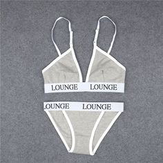 Kylie style sexy Lingerie Womens Bra And Underwear Set Letters Printed Sexy Ladies Ribbon High Quality Push Up Brief Set
