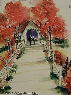 Pathway L@@K @ photo example Art Impressions Rubber Stamps