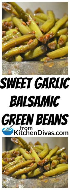 This Sweet Garlic Balsamic Green Beans recipe you have to try. The honey blends so well with the balsamic vinegar and garlic. Side Dish Recipes, Vegetable Recipes, Vegetarian Recipes, Cooking Recipes, Healthy Recipes, Chicken Recipes, Recipe Chicken, Mushroom Recipes, Salad Recipes