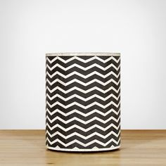 Samara Side Table - Chevron - Side & Occasional Tables - Furniture