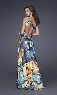 Colorful butterfly gown