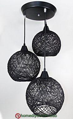 Bedroom Decoration Cheap String Lights Ideas For 2019 Diy Crafts For Home Decor, Handmade Home Decor, Diy Room Decor, Diy Para A Casa, Diy Casa, House Plants Decor, Creation Deco, Diy Chandelier, Lamp Design
