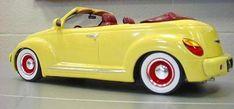 PT Cruiser rodder convertible. Looks like something from Roger Rabbit. Adorable.