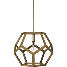 Lauren Home  Dustin Large Dodecahedron Pendant in Natural Style Number: LRL5214NAT