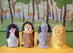 Wizard of Oz Finger Puppet Set by raindropstops on Etsy, $32.00