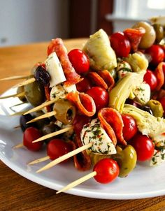 Make these antipasto skewers for your next dinner party.