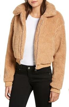 Teddy bear jacket great to feel cozy in the cool weather. Teddy Jacket Womens, Teddy Bear Jacket, Teddy Coat, Light Yellow Dresses, Coats For Women, Jackets For Women, Free People Jacket, Jackets Online, Winter Outfits