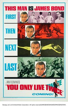 To celebrate the 50th anniversary of the release of Dr No, we delve through   recent book James Bond: 50 Years of Movie Posters for classic film posters,   teasers and lobby cards.