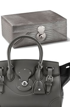Hardware on Ralph Lauren Home s Delphine jewelry box borrowed from the  iconic Ralph Lauren Ricky Bag. 11e4af226af6f