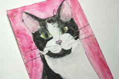 Pet Portrait  Single 4x6 Watercolor  Cat Dog by RaeosunshinePets, $12.00