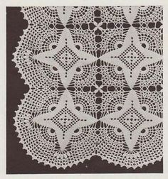 Antique Crochet Bedspread Patterns | Vintage Star Design Crochet Bedspread Pattern Motif Block No 13 ...