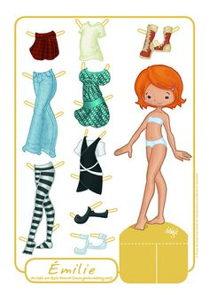 emilie (paperdoll)y Paper dolls are timeless fun! My Annie is 9 1/2 and she'd LOVE this one.