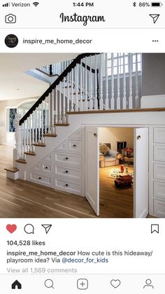 Stairs for kitchen and use room under for food storage or entrance to safe room/basement