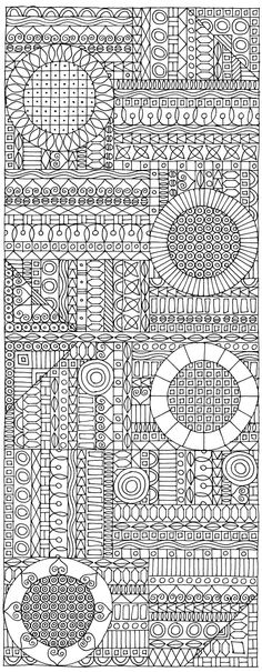 This would make a lovely blackwork embroidery!