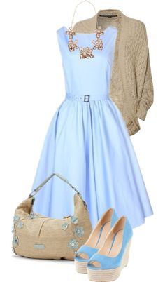 """""""blue flowers"""" by sagramora ❤ liked on Polyvore"""