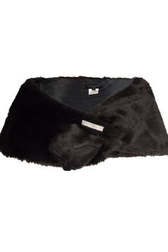 This elegant black faux fur cape will keep you warm and add a spark of glamour to your outfit. The cape features a stunning diamante brooch that can be taken off via a pin fastening. Just thread one end through the slit to form the wrap.   Black Fur Cape  by  Aftershock. Clothing - Sweaters - Ponchos & Capes Crouch End, Haringey, North London, London