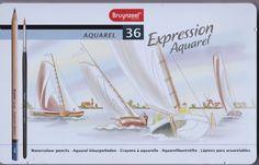 Bruynzeel Aquarel Expression Watercolour 36 Colouring Pencils Tin Set: Amazon.co.uk: Toys & Games