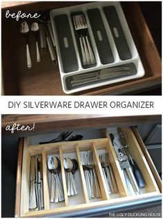 My old utensil drawer left a lot to be desired... so with a mere $10 and the #OrganizeBuildChallenge, I set out to turn this under-utilized drawer into somethin…