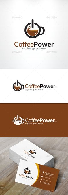 Coffee Power Logo - Objects Logo Templates