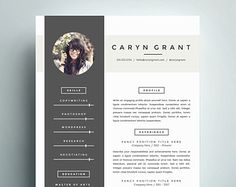 Professional Resume Template and Cover Letter Template for Word | DIY Digital Download | The Caryn | Modern Resume with Headshot Photo