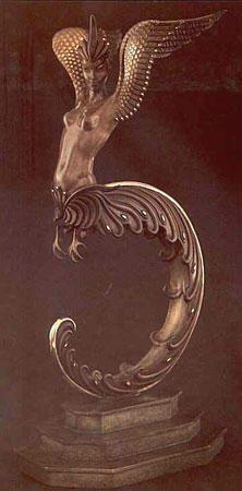 Erte (Romain de Tirtoff) - Firebird  Bronze Sculpture