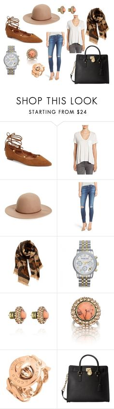 """Instagram Outfit #3"" by cmcanitano on Polyvore featuring Halogen, Lush, Hinge, AG Adriano Goldschmied, BP., Michael Kors, Chloe + Isabel and MICHAEL Michael Kors"