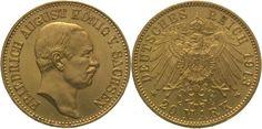 Sachsen Friedrich August III. 1904-1918. 20 Mark  Gold 1913 E Vorzüglich - Stempelglanz