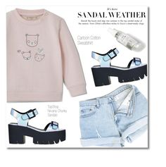 """Cartoon Sweatshirt"" by fleur-353 ❤ liked on Polyvore featuring Topshop, Herbivore and MANGO"