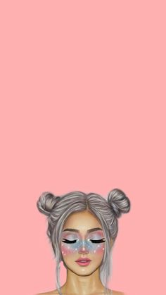 Cute Pastel Wallpaper, Cute Emoji Wallpaper, Aesthetic Pastel Wallpaper, Cute Cartoon Wallpapers, Iphone Wallpaper Images, Cute Wallpaper Backgrounds, Pretty Wallpapers, Pop Art Girl, Cute Girl Drawing