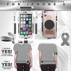 The VDOCK Inc.  PHONE CASE ( IPHONE 6) - SHOCKPROOF - WATERPROOF: Cell Phone Accessories for anyone of all ages. The future of your Cell phone Freedom. We have invented the most versatile mobile cell phone holders.  thevdock.com  #cellphone #phonedock #phoneclip
