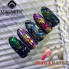 Holografic,Foil,Nail Art, Albina Maria, Magnetic Nails,Maga Nails