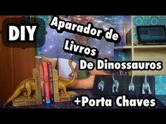 DIY - Aparador de Livros  de Dinossauro + Porta Chaves - Eduardo Wizard