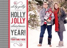 Create Your Own Christmas Photo Card With These Free Templates: Modern Christmas Card Template from Collected