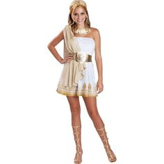 You'll take being a goddess to new heights when you wear this glitzy teen girl goddess costume. This glitzy teen girl goddess costume is a unique Greek costume idea for girls. Costumes For Teenage Girl, Halloween Costumes For Teens Girls, Cute Halloween Costumes, Halloween Fancy Dress, Girl Costumes, Costumes For Women, Roman Costumes, Scary Halloween, Costume Ideas