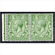 Sg351wi ½d green booklet pair fresh unmounted mint (G6) Listing in the King George V,Great Britain,Stamps Category on eBid United Kingdom
