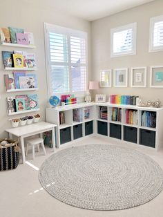 ideas for kids room organization toys reading corners - Kids playroom ideas Playroom Design, Playroom Decor, Ikea Kids Playroom, Playroom Paint Colors, Kids Room Design, Unfinished Basement Playroom, Playroom Layout, Children Playroom, Montessori Playroom
