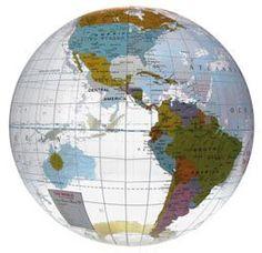 24 Inflatable Globe Beach Ball #earth #school #promoproducts | Inflatable Balls | School Spirit Ideas